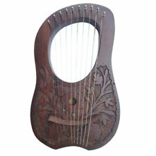 CC New Lyre Harp 10 Strings Hand Engraved Beautiful Product & Sound Top Quality
