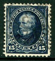 USA 1894 Clay 15¢ Dark Blue Scott # 259 VFU I761 ⭐⭐⭐⭐⭐⭐