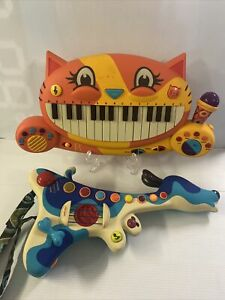 My B.Toys Meowsic Cat Piano Keyboard w/ Microphone & Woofer Hound Puppy Guitar