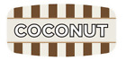 """Coconut Labels 1000 per Roll Food Store Flavor Stickers .625"""" X 1.25"""""""