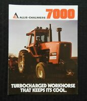 "1978 ALLIS-CHALMERS ""7000 TURBOCHARGED TRACTOR"" CATALOG SALES BROCHURE NICE"