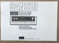 Sansui Model 9090 Receiver Owners Manual *Original*