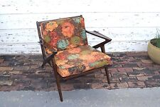 Original Mid Century Modern Solid Wood Lounge Chair made by Selig from Denmark