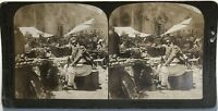 Costantinopoli Marché Turchia Fotografia Stereo Vintage Analogica