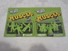Super7 SDCC 2017 Exclusive MUSCLE M.U.S.C.L.E. Lot of 2 Two Packs Green 6 Figure