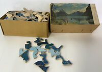 Antique Wooden Jigsaw 173 Pieces  Boxed Oeschinensee Austria Complete