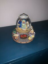 More details for rare disney beauty and the beast library musical snowglobe light up fire place