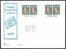 Vatican City Sc# 1370A, Papal Trips of Benedict XVI, First Day Cover