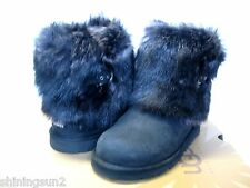 Ugg Ellee Boots Ellee Leather Black US Kid 6 / Women 8 /UK6.5/EU37/JP25