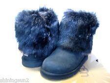 Ugg Ellee Boots Ellee Leather Black US Big Kid 5/Women7/UK5.5/EU36/JP24
