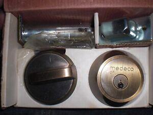 MEDECO MAXUM COMMERCIAL BIAXIAL G3 SINGLE CYLINDER DEADBOLT 2-3/8″ 609  w/2-KEYS