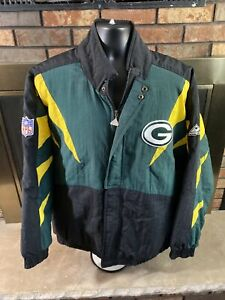 Vintage 90s Green Bay Packers NFL Football Puffer Jacket Mens Size XL Apex One
