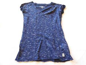 L.E.I. Women's Size M medium t shirt top Short Sleeve Navy Blue GUC