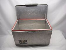VINTAGE Aluminum Cooler Cronstrom's CRONCO CAMPING- FISHING-HUNTING METAL COOLER
