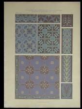 CAISSONS ET BORDURES, C. JACOBS -1906- LITHOGRAPHIE, ART NOUVEAU, DECORATION