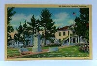 Monterey California Colton Hall Linen Vintage Postcard