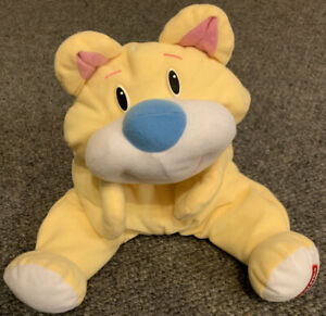 Vintage Fisher Price Rumple Bear Teddy Yellow With Blue And White Nose