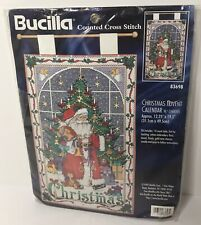 Bucilla Christmas Advent Calendar w/ Charms Counted Cross Stitch Kit #83698 New