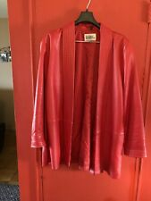 LADIES RED LEATHER JACKET SMALL Roomy Torso Slender Sleeves LEATHER WAREHOUSE