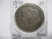 VERY RARE DATE 1896 s  MORGAN DOLLAR NICE  EXF+ ESTATE COIN  w230