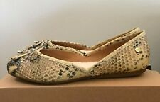 UGG Womens Lena Exotic Flats Shoes Natural Snake Print Leather Size 7 1101511