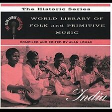Lomax, Alan, World Library: India, Excellent Original recording remastered