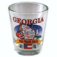 GEORGIA STATE ELEMENTS MAP SHOT GLASS SHOTGLASS
