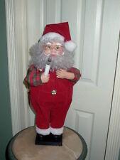 Animated & Illuminated Santa Claus Figure Holding Candle
