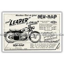 PUB NEW-MAP 125 Type LK 140 Série LEADER - Ad / Publicité Moto de 1954