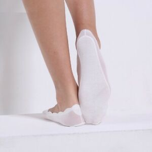 4 Pairs Women's Non-Slip Footsie Low Cut Socks Invisible No-Show Liner Ankle Lot