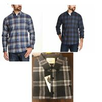 Weatherproof Vintage Men's Long Sleeve Lightweight Plaid Flannel Shirts VARIETY