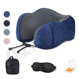 U-shaped Travel Pillow Memory Foam Rebound Sleeping Pad Neck Support Headrest AU