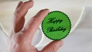 Embossing for cupcake and cake - stamps sugarpaste Happy Birthday
