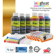 Refillable ink cartridge for Canon MG7766 MG7765 MG7760 670 671 updated chip