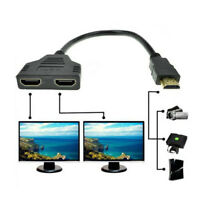 1080P HDMI Port Male to 2 Female 1 In 2 Out Splitter Cable Converter Adapter