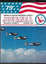 AMERICAN AVIATION HISTORICAL SOCIETY JOURNAL, Vol. 24 No.2 Summer 1979