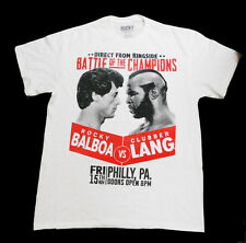 ROCKY III BATTLE OF THE CHAMPIONS Rocky Balboa vs Clubber Lang T-Shirt 2XL 50-52