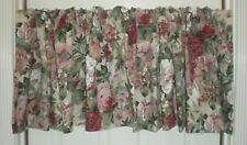 """Croscill Home ROSE ARBOR Floral Blouson VALANCE Lined Cotton 84"""" 2 avail"""