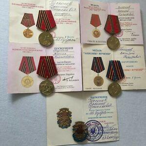 Medaille Orden Russische Sowjetische mit Dokument