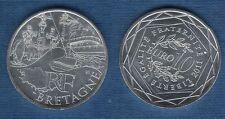 10 Euro Série des Régions 2011 Monuments Argent SUP - Bretagne