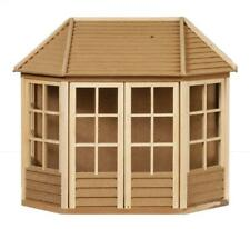 More details for dolls house summer house garden shed ready built unfinished wood 1:12 scale