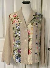White Stag Super Cute Linen Blend Button Front Jacket/Shirt Sz XL 16/18 EUC!