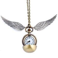 Harry Potter Golden Snitch Quidditch Kette Anhänger Goldener Schnatz mit Uhr Neu