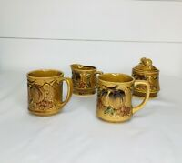 Vintage Nevco Coffee Cups Cream And Sugar Set Nevco Japan Set of (4)