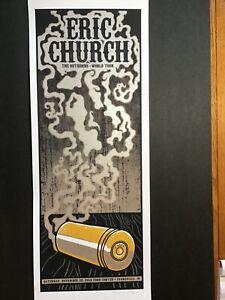 Eric Church concert poster November 22, 2014 Ford Center, Evansville, IN  Mazza
