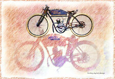 """NEW!  """"OLD HARLEY MOTORCYCLE"""" NOTE CARDS  - 12 Cards w/Envelopes"""