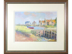Low Tide, Brancaster, North Norfolk by T Whittaker - Original painting, signed