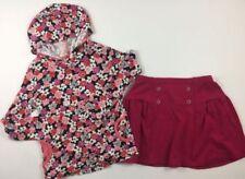 Gymboree Girls 8 Floral Hooded Shirt & Plum Colored Skirt Set