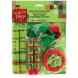 TNT Pixel 48 piece Party Favor Mega Value Pack Party Supply Birthday Gift