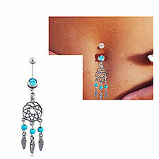 Belly Button Rings Crystal Rhinestone Dangle Jewelry Navel Bar Body Piercing New
